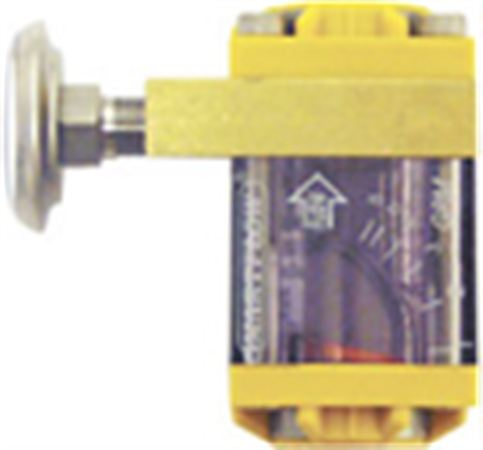 3/8-inch NPT(F) Flowmeter with Thermometer (1.5 or 8 gpm)