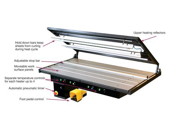 Pneumatic Plastic Bending Table