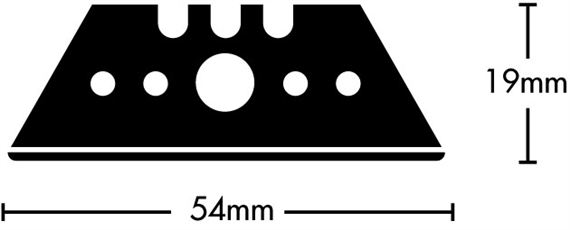 Replacement blades - Rounded edges - pkg/10