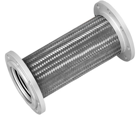 Stainless steel braided hose fixed flange at abbeon