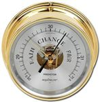 PREDICTOR BAROMETER, BRASS CASE, SILVER DIAL
