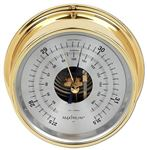 PROTEUS BAROMETER, BRASS CASE, SILVER DIAL