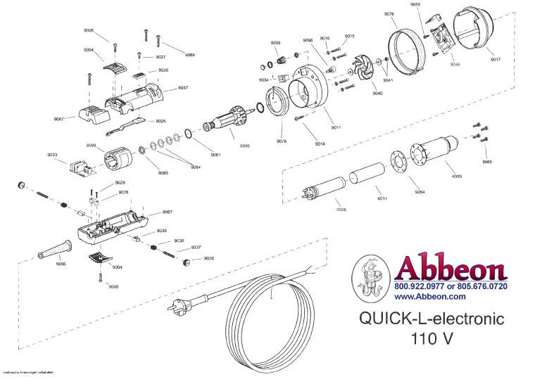 quick-se 110v parts diagram